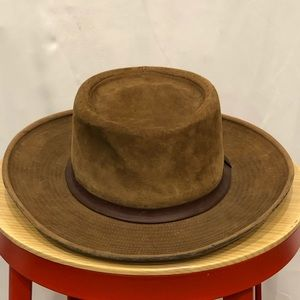 J. Crew vintage brown suede field hat size large